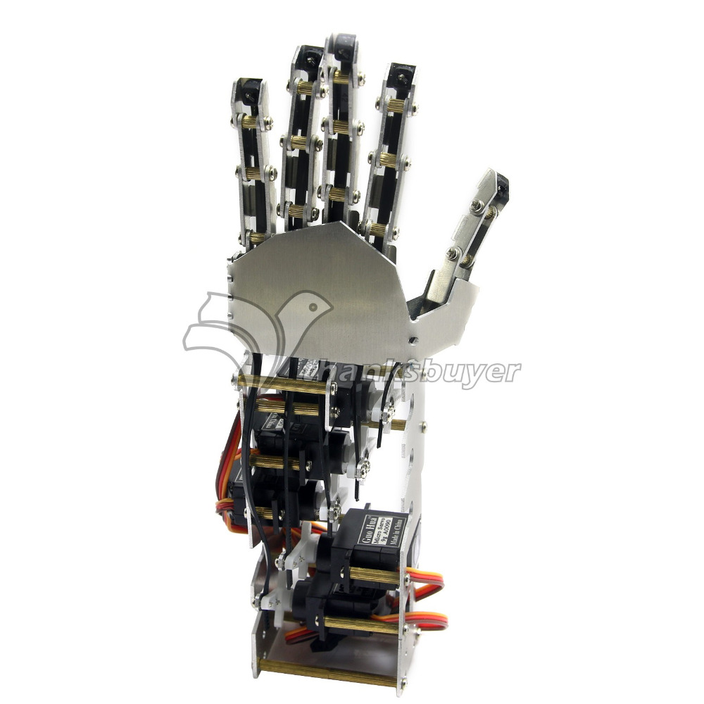 5DOF Humanoid Five Fingers Metal Manipulator Arm Left Right Hand with GS9018 Servos for font b