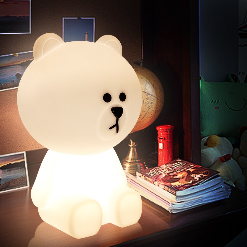 Brown Bear Lamp LED Children's Night Light Table Lamp Christmas Creative Lamparas Lampe Light Fixtures For The Baby Kids Room