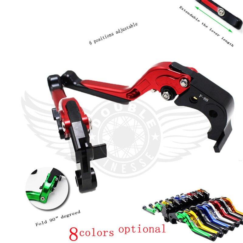 ФОТО free shipping new Motorbike CNC Billet Aluminum Folding Extendable Brake Clutch Levers  For 2002-2003 Honda CBR954RR CBR 954 RR