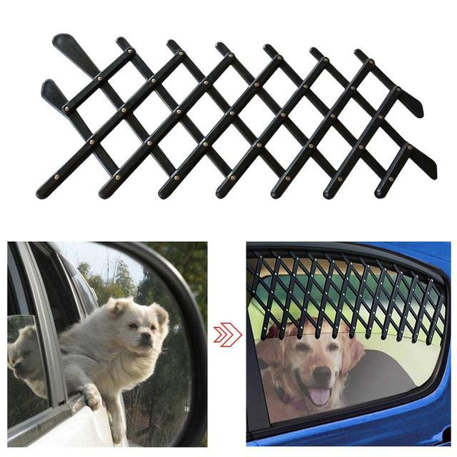 Pet Dog Fence Travel Car Window Protective Retractable Grill Vent Ventilator Guard Mesh Security Lattice Telescopic Door In Doors Ramps From