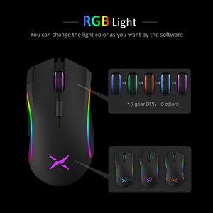 Image 4 - Delux M625 RGB Retroilluminazione Gaming Mouse 12000 DPI 12000 FPS 7 Programmabile Bottoni USB Ottico con cavo Mouse Per Computer FPS gamer