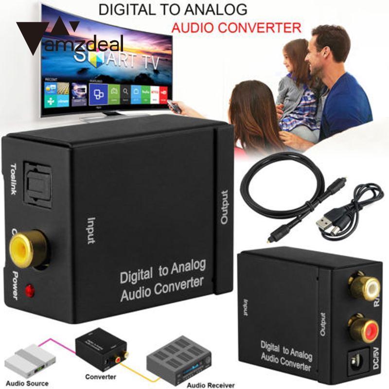 Unterhaltungselektronik Sporting Amzdeal Digitale Coax-analog-l L/r Audio Konverter-anschluss Usb Power Line Fiber Kabel Tragbaren Digitalen Kabel Zubehör