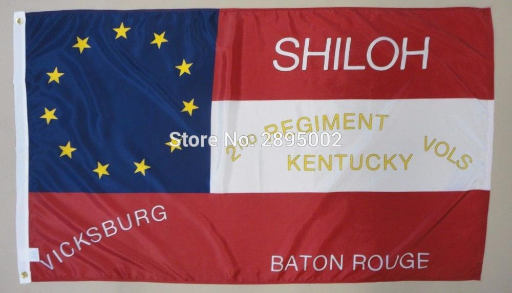 2nd Kentucky Infantry Regiment Indoor Outdoor Historical Dyed Nylon Flag