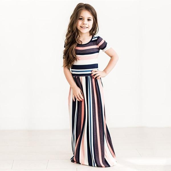 2018 letnie dziewczyny europejska i amerykańska sukienka dziecięca - Ubrania dziecięce - Zdjęcie 3