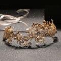 Luxury Bridal Crystal Tiara Crowns Princess Queen Top AAA Zirconia Imitation Pearl Tiara Headband Wedding Hair Jewelry Accessory
