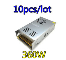 10pcs/lot Best perfomance 12V 30A 360W Switching Power Supply Driver for LED Strip AC 110V 240V Input to DC Switch driver