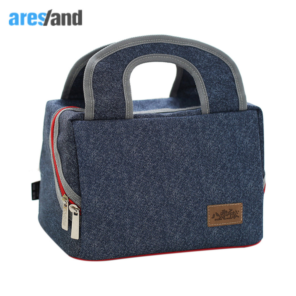 Aresland 2017 new Great Capacity Fashion Oxford Cloth Thermo Lunch Bag for Kids Women adults Thermal Picnic Box