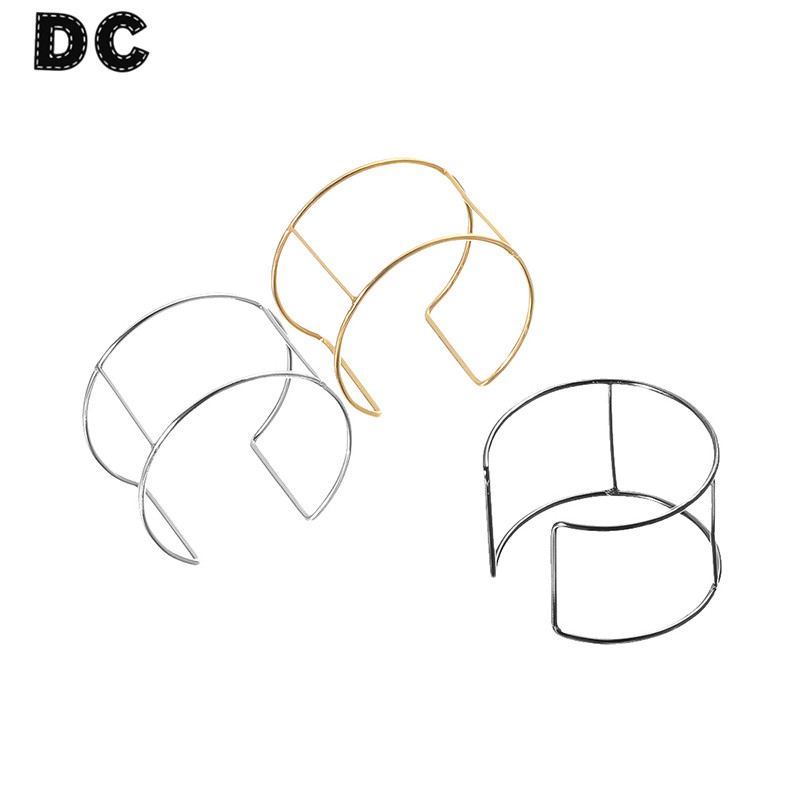 DC 6pcs/lot Gold/Silver Color Metal Wire Blank Cuff