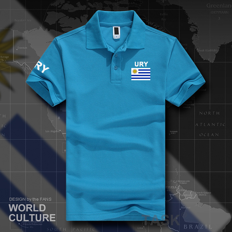 Uruguay Uruguayan   polo   shirts men short sleeve white brands printed for country 2017 cotton nation team flag new fashion URY