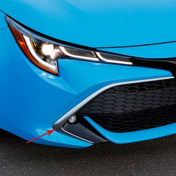 Para Toyota Corolla 2019 2020 piezas de estilo de coche de Hatchback ABS cromado rejilla frontal parrilla cubre moldura accesorios exteriores