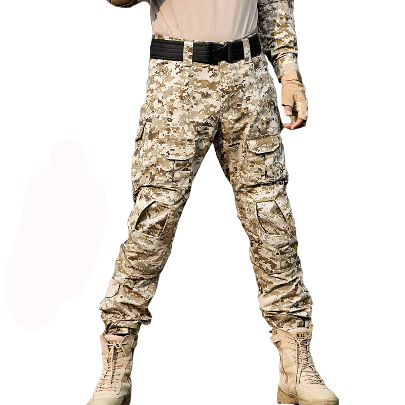 Combat Pants Hunting Men Camouflage Special Forces Cargo Pants Military Tactical Outdoor Trouser Climbing Pants Knee Pads mgeg militar tactical cargo pants men combat swat trainning ghillie pants multicam army rapid assault pants with knee pads