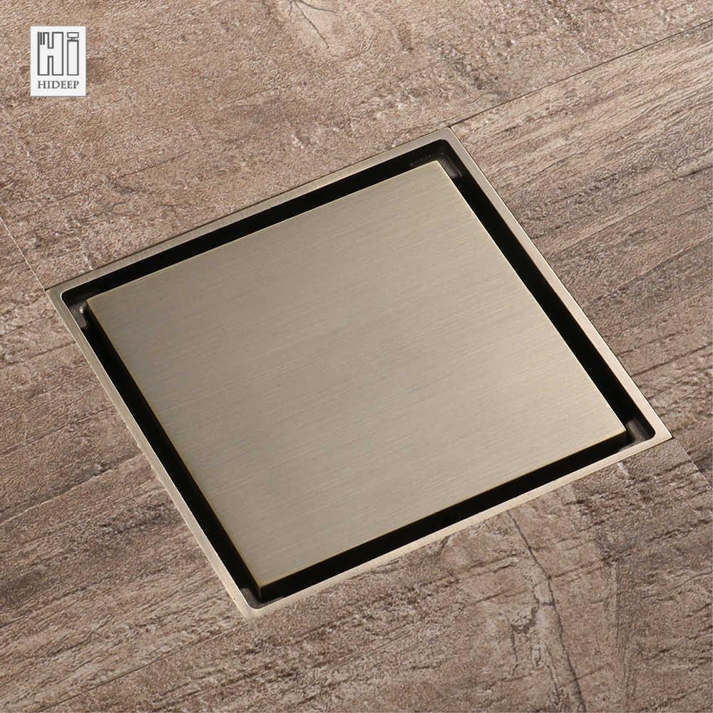 Hideep Square Floor Shower Drain For Family Bathroom Drainage Bathroom Accessories Shower Waste Water Strainer Shower Drain Floor Shower Drainshower Waste Aliexpress