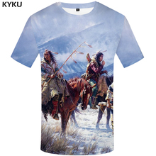03defee6 3d Tshirt Native American Indians T-shirt Men Feather Anime Clothes  Mountain Tshirts Casual Animal