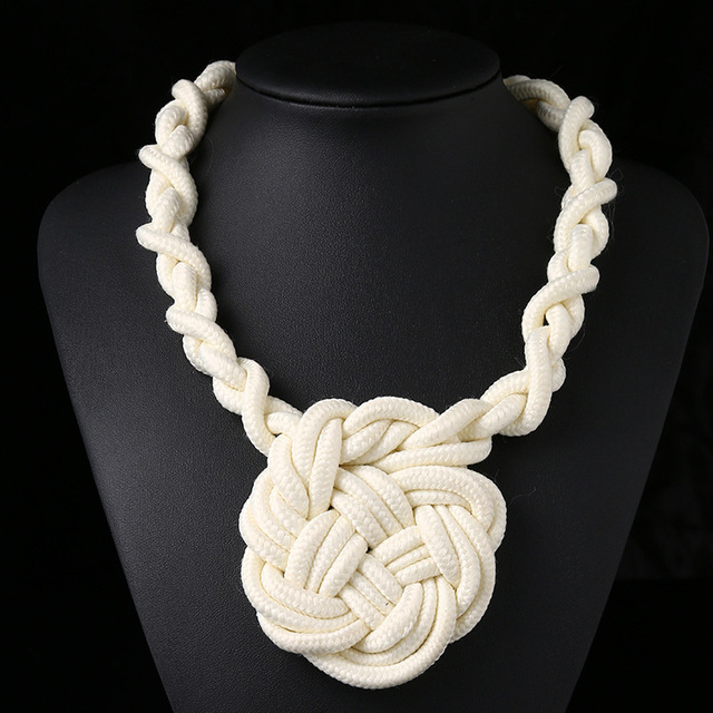 Cotton Statement Necklace