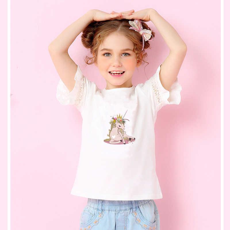 Prajna moda menina unicórnio ferro na transferência verão estilo térmica remendos de transferência térmica vynil para roupas de engomar decoração do t-camisa