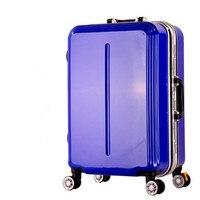 עגלת מסגרת אלומיניום זכר נקבת תיק נסיעות מזוודות מזוודת גלגל אוניברסלי 20 24, באיכות גבוהה מסחרי תיק עגלה