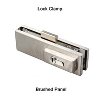 1PCS Frameless glass door lock clamp floor spring door accessories ground lock door clip glass door hardware accessories JF1380