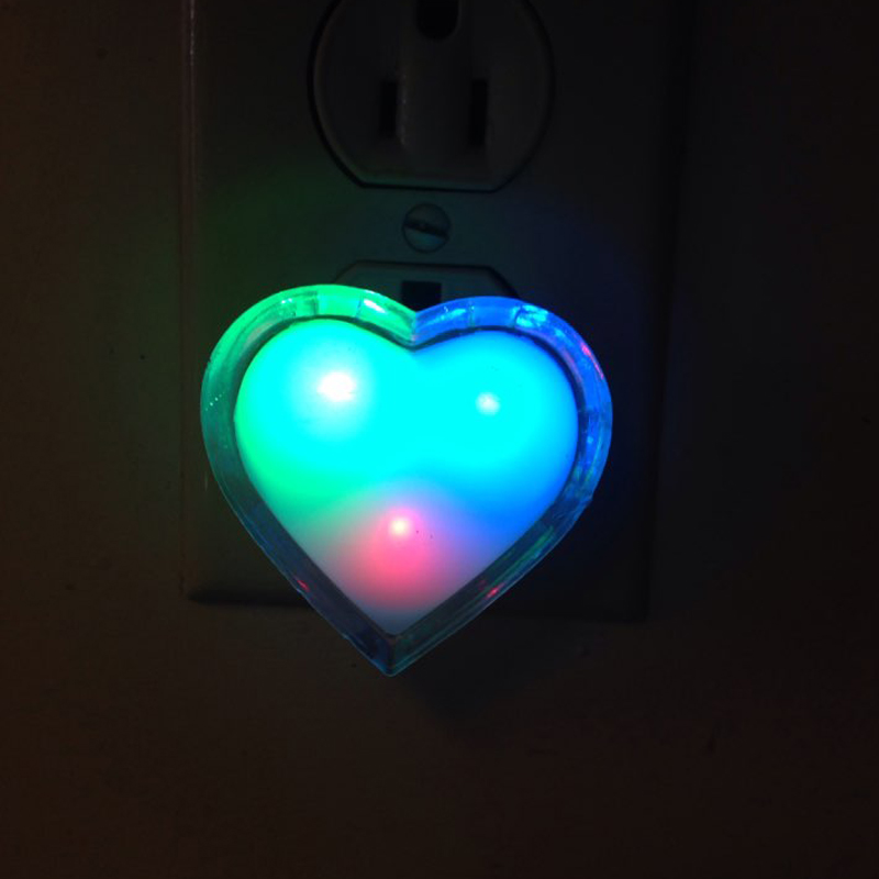 Led Lamps Enthusiastic Solled Night Light Mini Us Plug Novelty Heart Bedroom Lamp For Baby Gift Romantic Colorful Lights Good Companions For Children As Well As Adults