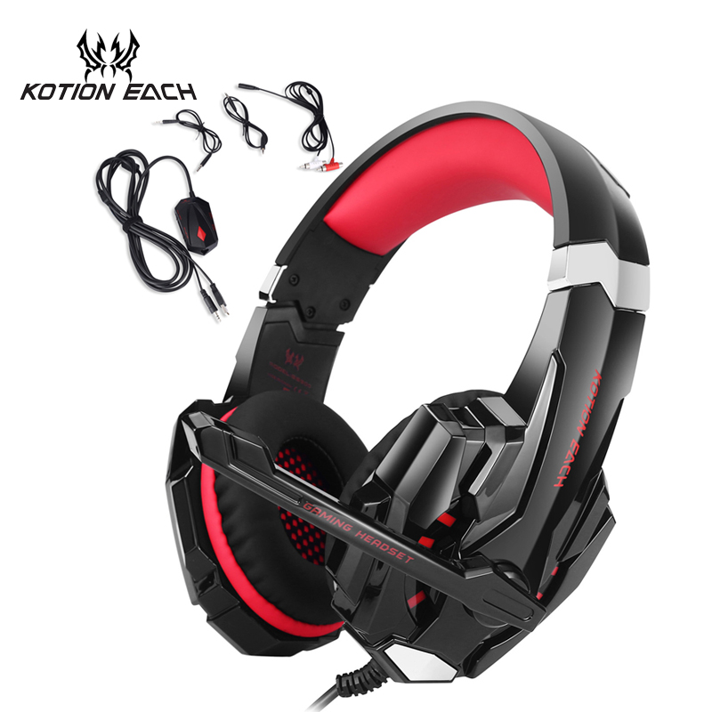 KOTION EACH GS900 PS3 Headset Gaming headphone for XBOX 360 PS4 Computer Laptop Phone Microsoft xbox 360 headset with microphone xbox 360 игры lt 3 0