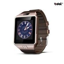 Смарт-часы EDAL DZ09, Цифровые мужские часы для ios, iPhone, samsung, Android, мобильного телефона, Bluetooth, SIM, TF карта, камера