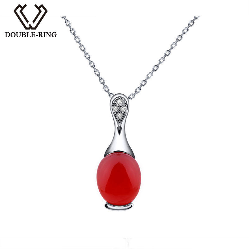 DOUBLE-R Oval Red Necklaces & Pendants Women Agate 925 Sterling Silver Pendants Real Fine Jewelry Customized Gift Box CASP00181ADOUBLE-R Oval Red Necklaces & Pendants Women Agate 925 Sterling Silver Pendants Real Fine Jewelry Customized Gift Box CASP00181A