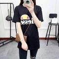 2016 Moda de La Calle Delgado Verano Marca camiseta de Las Mujeres Carta Imprimir Casual Mujeres Delgadas Tops Camisetas Tallas grandes