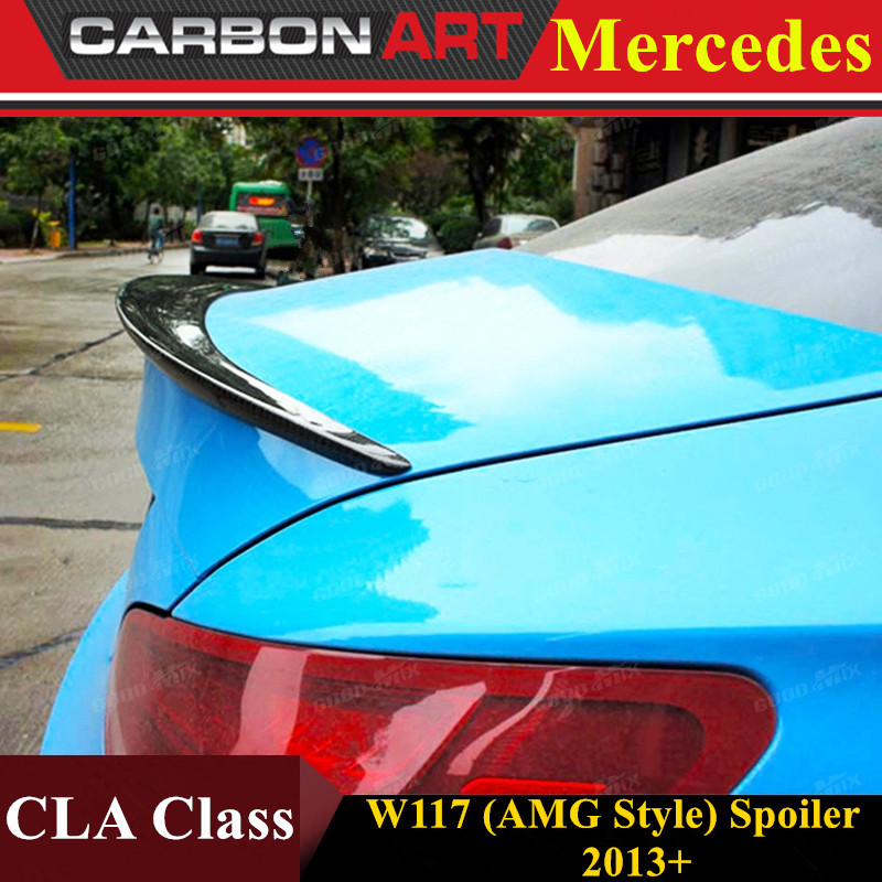 Mercedes CLA W117 AMG style replacement cf rear trunk wing spoiler for benz 2013+ CLA 180 CLA200 CLA 250