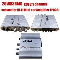 Hi-Fi 2.1 channel output power amplifier mini Car Audio stereo Amplifier Power Amplifier super bass 20WX3 RMS CD MP3 MP4