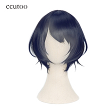 ccutoo 30cm Blue Short Ombre Mix Synthetic Hair Heat Resistance Fiber Cosplay Costume Wigs Party Wigs Hair SINoALICE Alice
