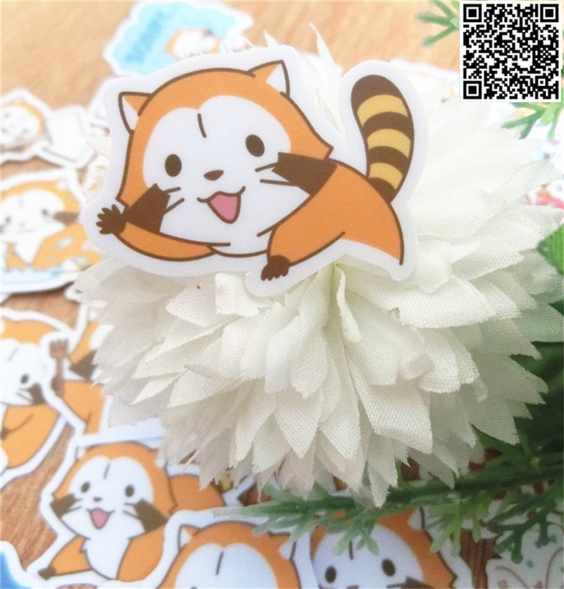 36 Pcs Cute Little Raccoon Paper Sticker For Luggage Skateboard Phone Laptop Moto Bicycle/Eason Stickers/DIY Scrapbooking