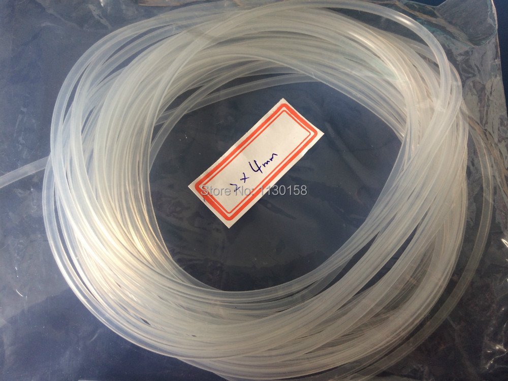 Idxod 2x4mmx100meters Food Grade Silicone Rubber Tube Odorless Silicon Rubber Hose, Transparent