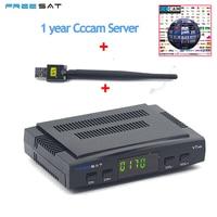 Freesat V7 Спутниковые антенны HD DVB-S2 + USB WI-FI 4 линий Европа cccam счет декодер Newcamd YouPorn Biss ключ powervu