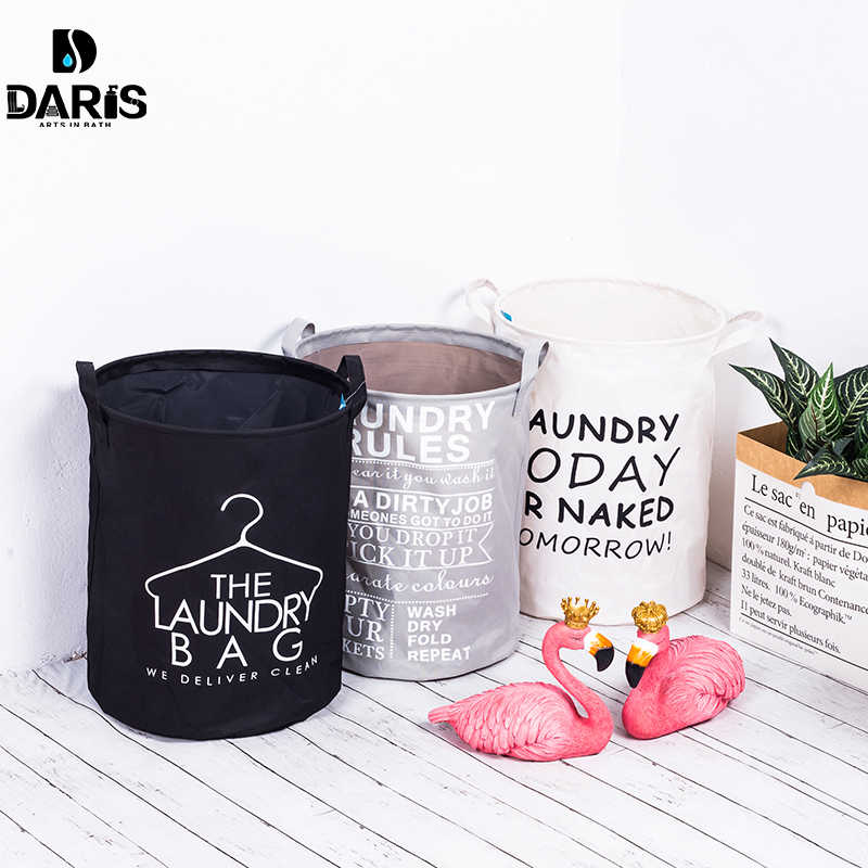 3 Section Collapsible Foldable Laundry Basket Organizer Large Box Storage Laundry Hamper Sorter Dirty Clothes Bag Kids Big Toys Desktop Sundries Storage Basket,B with W with G,L