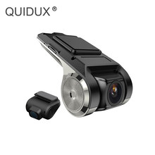 QUIDUX new Car DVR 1080P Video Recorder ADAS WIFI MINI usb Dash Cam for Android Multimedia player 24 Hours remote monitor(China)