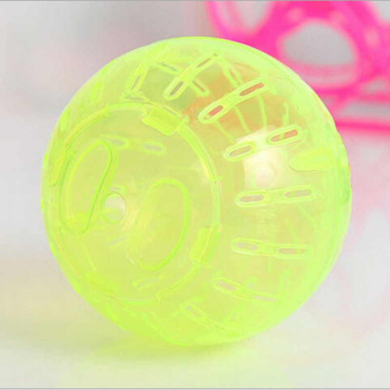 2019 Pet Toys for small animals 10cm 3 93 quot Plastic Colorful Run About Exercise Ball Clear for Hamster Mouse Rate Toy in Toys from Home amp Garden