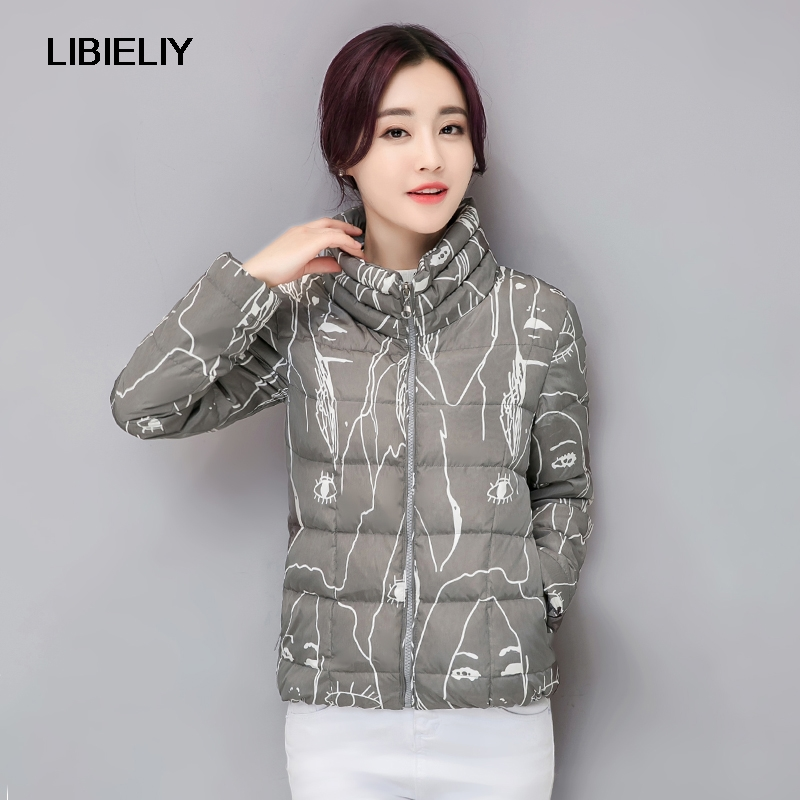 Spring Autumn Women Bomber   Basic     Jacket   Nice Fashion Slim Cartoon Graffiti Outwear Stand Collar Pocket Zipper Jaqueta Feminina