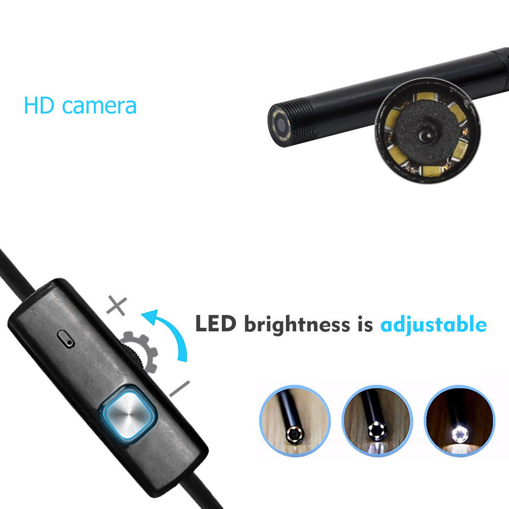HD WIFI Endoscope Camera USB Android Endoscope Waterproof 6 LED Borescope Snake flexible Inspection Camera For Android PC image