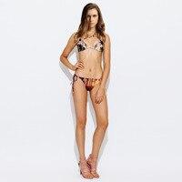 2016 Coconut Trees Swimsuit Coco Palm Tree Beach Biquini Gradient Sunset Bikinis Set Women Bikiny Sets