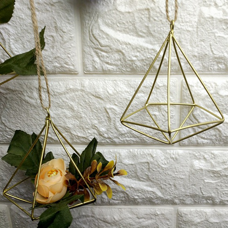 Wall Freestanding Hanging Holder Wrought Plant Tillandsia Iron Metal Geometric Plants Air Rustic Rack
