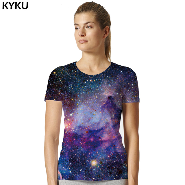 d2ccad2c183 US $5.88 47% OFF|Galaxy Shirt Space Universe 3d Print Tshirt Women Hort  Sleeves Womens Brand Clothing Hip Hop top Tees Summer Cool Hiphop  Clothes-in ...