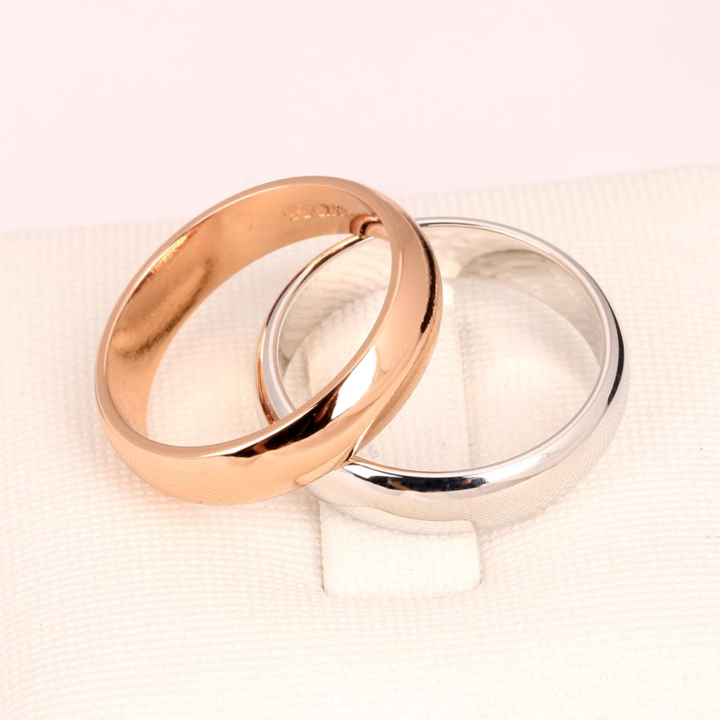 Gold toe rings for women - Top Quality Simple Design Couple Round Rings Rose Silver Color Fashion Brand Jewelry For Men