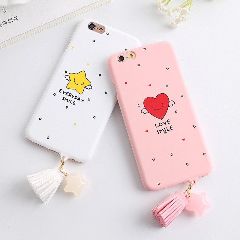 Мило любовь кисточкой матовый чехол для телефона iPhone 7 4.7 дюймов сообщения с рисунком сердце любовь Улыбка телефон чехол для Iphone 7 4.7 дюймов