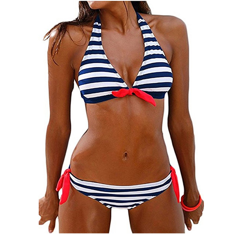 Hot sexy striped bikini