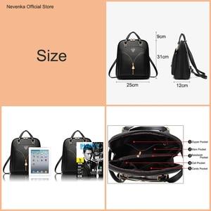 Image 2 - Nevenka anti roubo de couro mochila feminina mini mochilas femininas mochila de viagem para meninas mochilas escolares senhoras saco preto 2018