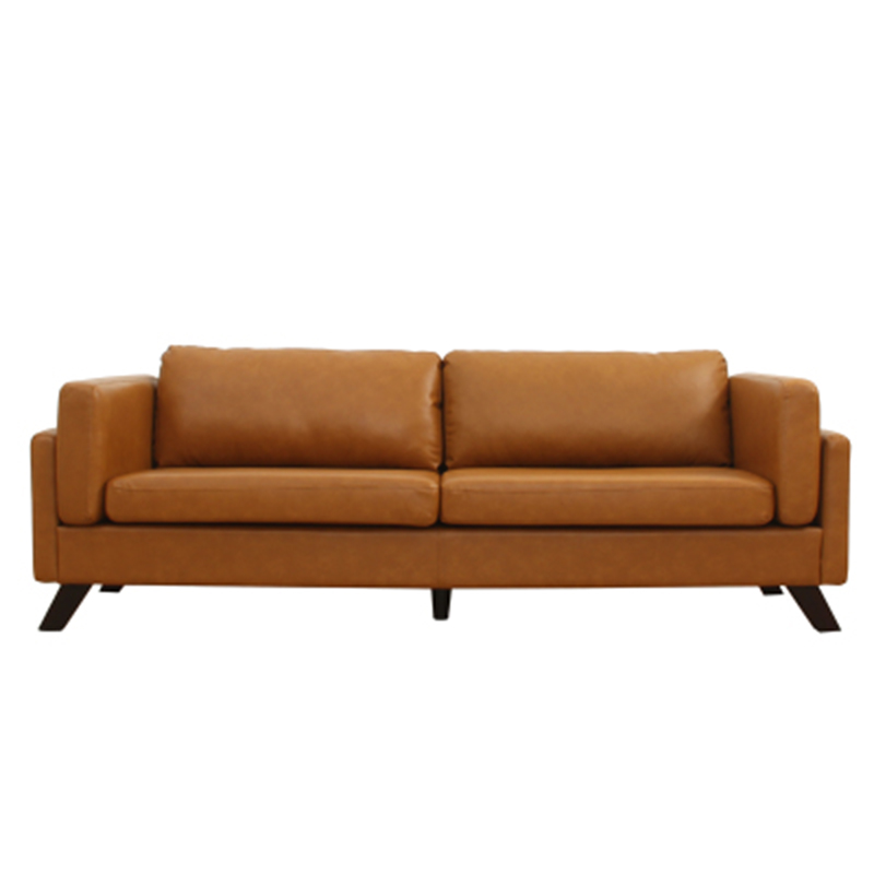 Furniture living room leather sofa modern minimalist small - Small apartment sectional sofa ...