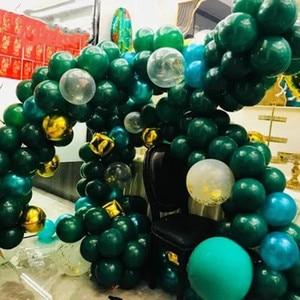 Image 3 - 子供ウッドランド動物誕生日恐竜パーティーの装飾 30 個ダークグリーンラテックス風船ヘリウムボール大人の結婚式用品