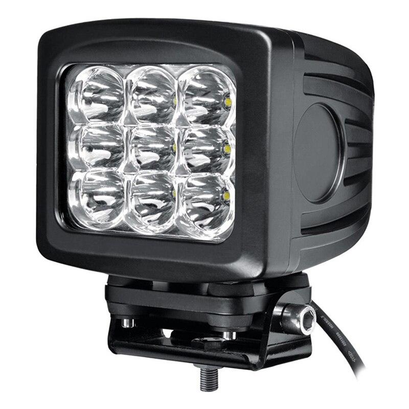 ФОТО  Big Discount 90W LED Work Light Tractor Truck 12v 24v IP67 SPOT Flood Offroad LED Drive light LED Fog Light High Power