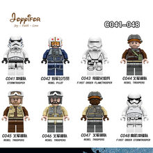 Joyyifor Star Wars Rebel Pilot Troopers Storm Mini Troopers Building Blocks Starwars Action Figures Friends Children Toys(China)
