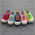 Бесплатная доставка 1 пара осень спортивная обувь детей холст обувь детская кроссовки, слип устойчивостью дети / ребенок / девочка / мальчик обувь одного