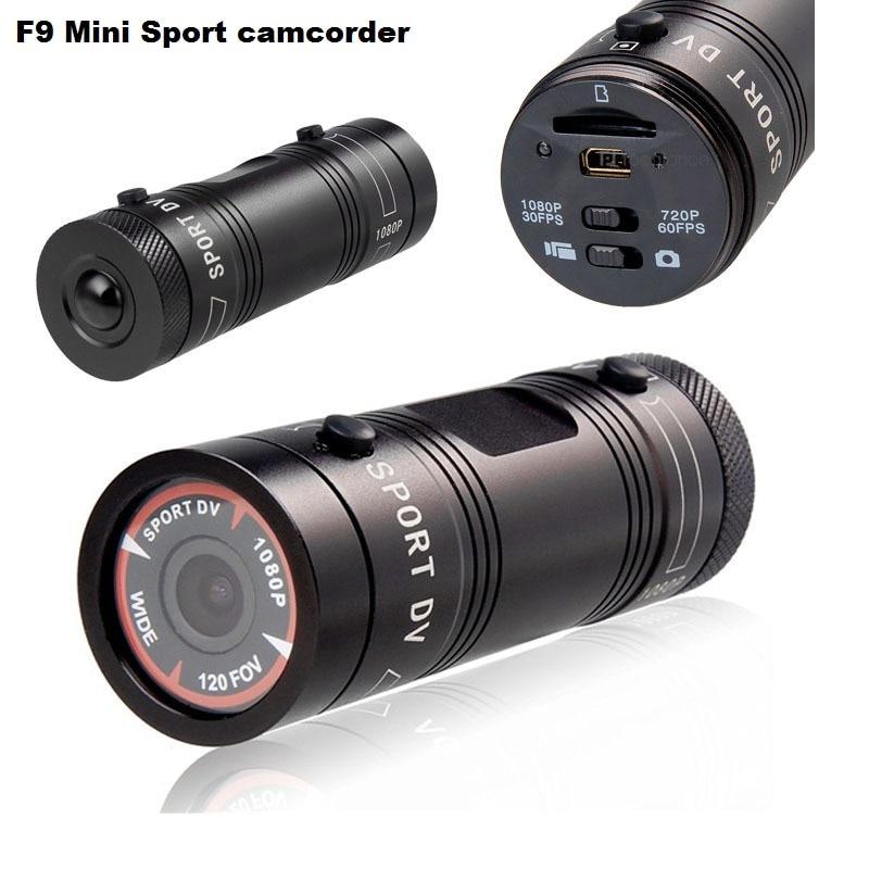 цена на F9 Full HD 1080P 3MP AIV Mini Camcorder Small Aluminum Sport Action Recorder Helmet Camera DV DVR Sport Extreme Sport Camcorder